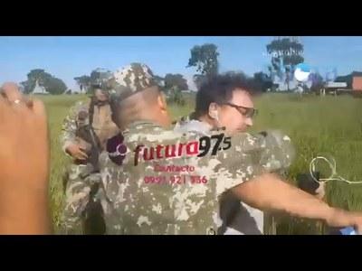 MILITAR AGREDE VIOLENTAMENTE A PERIODISTA EN PJC