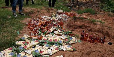 Destruyeron gran cantidad de bebidas incautadas en Tacumbú