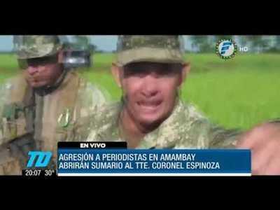 Militar agrede a corresponsal de Telefuturo