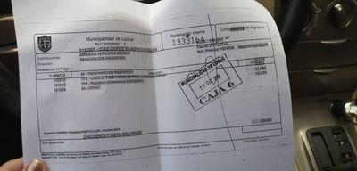 Denuncian negociado en la Dirección de Tránsito de Luque