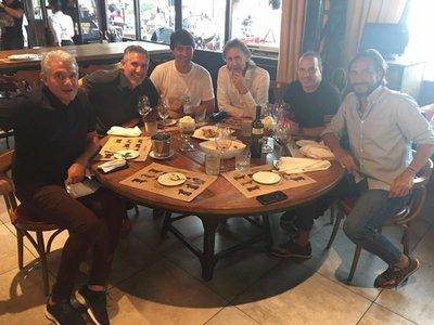 Garnero y un almuerzo con glorias de Independiente