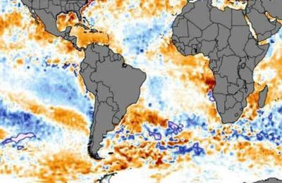 Identifican una gigantesca masa de agua caliente en el Pacífico que se mueve hacia Sudamérica
