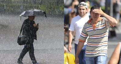Jornada cálida y con lluvias dispersas en primer día del año