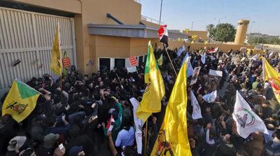 Manifestantes permanecen frente a la Embajada de EEUU en Bagdad sin violencia