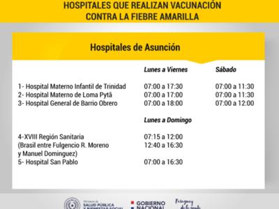 Masiva demanda de tarjetas de vacunación contra la fiebre amarilla