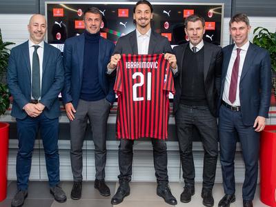Ibrahimovic firma con el Milan por seis meses