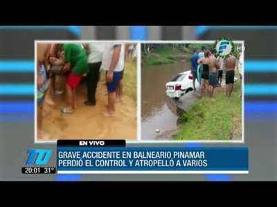 Varias personas atropelladas por un vehículo en Pinamar