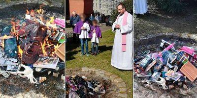 Sacerdotes polacos queman libros de Harry Potter para combatir la magia