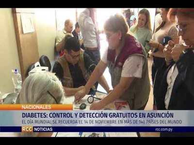 DIABETES: CONTROL Y DETECCIÓN GRATUITOS EN ASUNCIÓN
