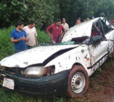 Grave accidente de tránsito deja 5 heridos