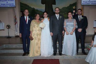 El enlace matrimonial de Gabriela y Hugo