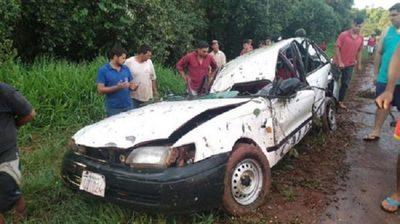 Vuelco de rodado deja cinco heridos en Ciudad del Este