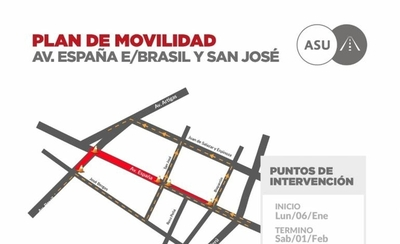 HOY / Cierran un tramo de Avda. España por casi un mes