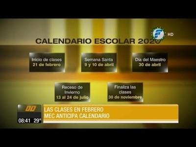 MEC anticipa calendario escolar: Las clases iniciarán el 21 de febrero