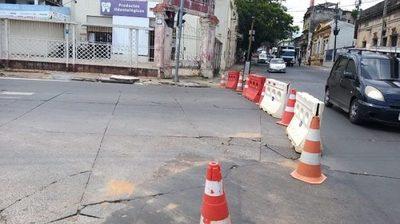 MOPC cierra tramo de la avenida España para obras de alcantarillado sanitario