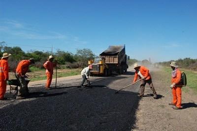 Iniciaron trabajos de restauración de la Ruta Transchaco