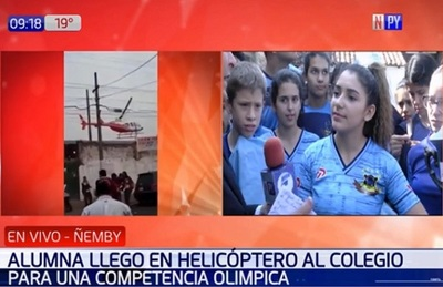 """Alumna dice que pagaron paseo en helicóptero con """"milaneseada"""""""