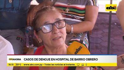 Casos de dengue en hospital de Barrio Obrero