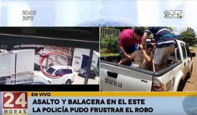 Agentes policiales evitan asalto tras balacera en Ciudad del Este