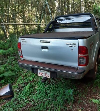 Recuperan vehículo robado en Santa Rita