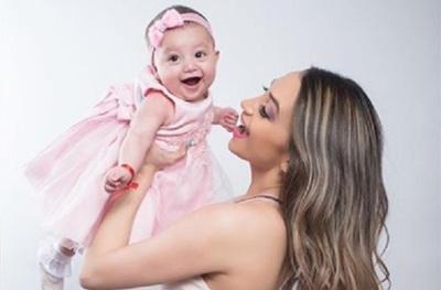 Marcia Franco compartió un tierno momento con su hija