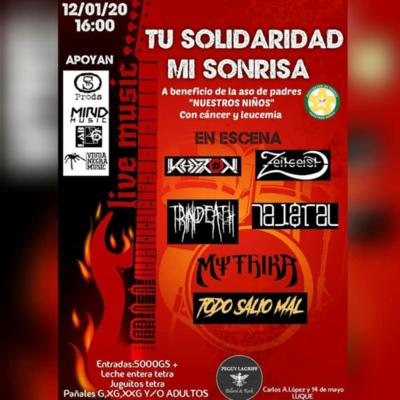 Concierto de rock y metal en beneficio a niños con leucemia