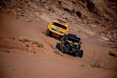 Rally Dakar. La armada paraguaya resistió a otra dura etapa y escaló posiciones