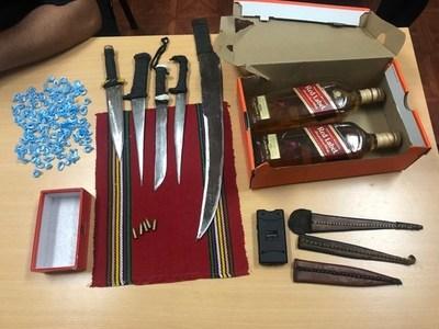 Incautan armas blancas, whisky y proyectiles en Tacumbú