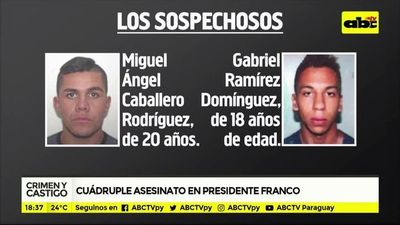 Cuádruple asesinato en Presidente Franco