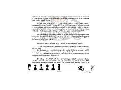 Olimpia exige a la APF explicaciones