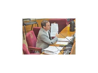 Informe de la intervención de Benjamín Aceval pasa  a  Diputados para definición