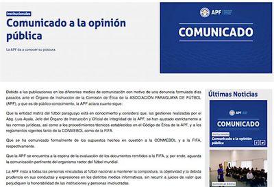 APF responde y respalda a Ayala