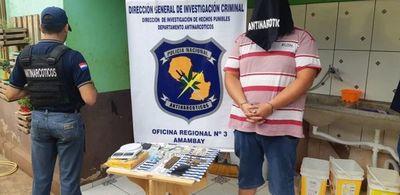 Un detenido con drogas y proyectiles en barrio Guaraní