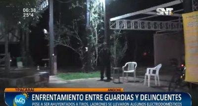 Enfrentamiento en barrio cerrado deja un guardia herido