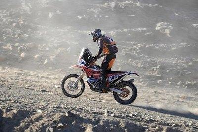 Blas Zapag vuelve a escalar lugares en el Dakar
