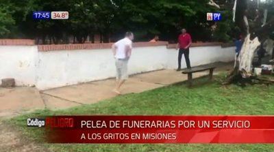 Funcionarios de funerarias pelean por clientes en Misiones