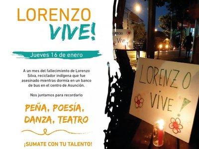 Con peña artística recordarán hoy a Lorenzo, el indígena asesinado en una parada