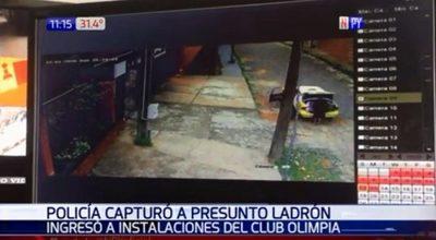 Detienen a joven que robó un televisor del Club Olimpia