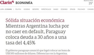 Según Clarín, la economía paraguaya es la envidia de los argentinos