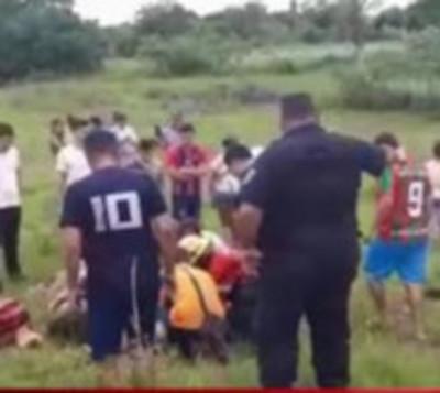 Dos niños heridos tras un accidente en Carapeguá