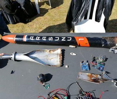 """""""Arasunu"""", el cohete paraguayo fue lanzado en Caaguazú"""