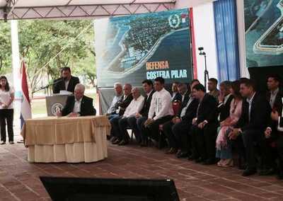Gobierno firmó contrato para construir esperada defensa costera para Pilar