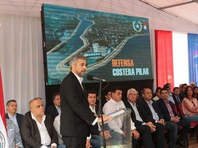 """Desastre ko Marito'"", pureó el presidente en Pilar"