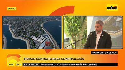 Firman contrato para construcción de la franja costera de Pilar