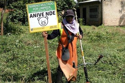 Ypané requiere limpiar sus predios a dueños de baldíos
