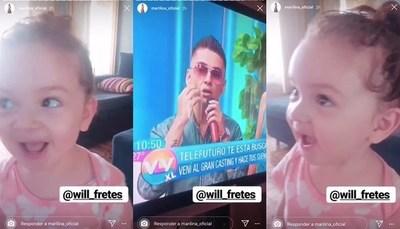 Así reaccionaba Melody ante la presencia de Will en televisión