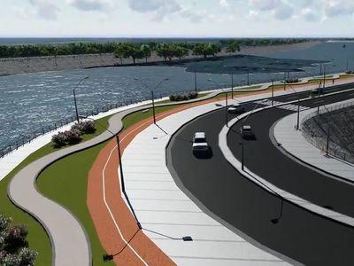 """Destacan """"momento histórico"""" de Pilar con la construcción de la franja costera"""