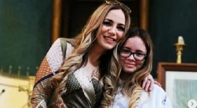 Clara Franco emocionada ante los 20 años de su hija