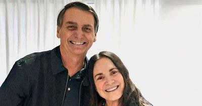 Bolsonaro convocó a una popular actriz para asumir de Secretaria de Cultura