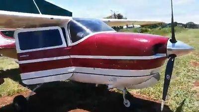 Amambay: incautan aeronave utilizada supuestamente para el narcotráfico